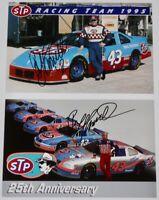 1995 1996 BOBBY HAMILTON signed STP Pontiac NASCAR Postcard Hero Card Lot Of 2