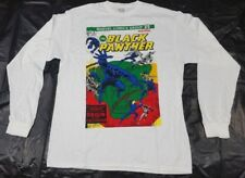 Men's Black Panther T Shirt Long Sleeve White Large Comic Cover