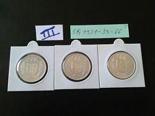 3 monnaies Suisse (5 fr 1931-39-66 TTB )