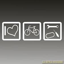 I Love MTB pegatinas MTB cris King llantas de bici kettenöl herramientas cuidados MTB
