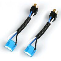2Pcs H4 9003 Headlight Bulb Ceramic Socket Plug Connector Wiring Harness Hot