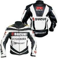 Customized Brand New Suzuki Motorcycle Motorbike Biker Racing Leather Jacket