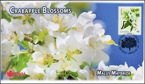 CA21-017, 2021, Crabapple Blossoms, First Day of Issue, Pictorial Postmark,
