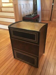 Maitland Smith leather book end table