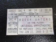 Roger Waters ticket stub June 22 2000 Universal Amphitheatre