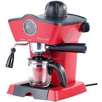 Dampfdruck-Siebträger-Espressomaschine ES-800.retro mit Aufschäumer