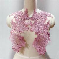 Shimmer Sequined Embroidery Lace Patch Applique Accessories for Wedding Dress