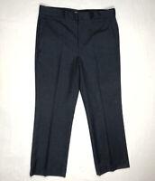Vtg LL Bean Mens Wool Slacks Pants 36 x 29 Blue Straight Leg