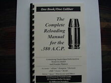 .380 Auto ACP  The Complete Reloading Manual Load Books USA Latest Version