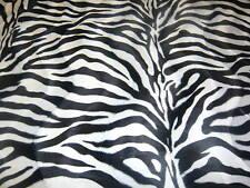 Animal Print faux Fur/Velour velboa Fabric/Material -Black & White Zebra