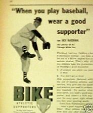 1957 Chicago White Sox MLB Baseball Jack Harshman Bike Supporters Promo Trade Ad