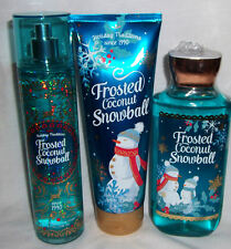 Frosted Coconut Snowball Body Cream Shower Gel  Fragrance Mist Bath Body Works