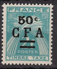 REUNION CFA TIMBRE COLONIE  FRANCE NEUF TAXE N° 37 ** TYPE GERBES