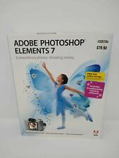 Adobe Photoshop Elements 7 Includes Scrapbooking Training Software XP/Vista New