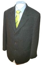 Zanella Italy Men's Gray Three Button Wool Cashmere Blazer Sport Coat 44R