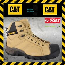 Caterpillar CAT Argon Hi Steel Toe Side Zip Honey Safety Work Boots