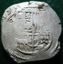 VERY RARE SPANISH COLONIAL MEXICO 1607 PHILLIP III 8 REALES SILVER COIN