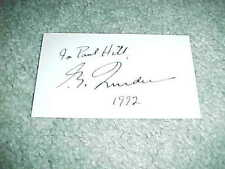 1992 Pierre Trudeau Autographed Signed Card w/ inscription Prime Minister Canada