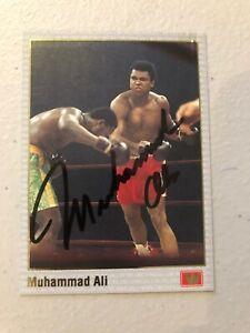 MUHAMMAD ALI ORIGINALLY SIGNED TRADING CARD ALSO SIGNED ON REVERSE AL UNSER JR
