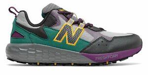 New Balance Kid's Fresh Foam Crag Big Kids Male Shoes Grey with Green & Purple