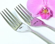 Mr. and Mrs.Wedding Forks, Handmade Cake Forks with Dates on the Handles