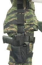 TAC DROP LEG HOLSTER - NYLON ADJUSTABLE MILITARY PAINTBALL COSPLAY