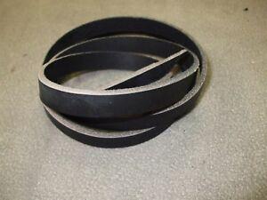 ≈ 140 x 1,5 cm Lederriemen Riemen Gürtelriemen zugfest schwarz  ≈ 3 - 3,5 mm