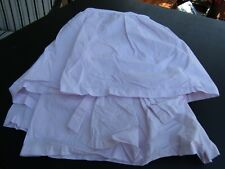 Simply Shabby Pale Pink Ruffled Twin Bed Skirt/Dust Ruffle 100% Cotton EUC