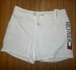NWT Womens Tommy Hilfiger Lounge / Sweat Shorts~White~LRG