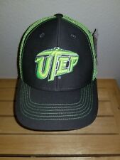 New NCAA UTEP Miners Mesh Sideline Trucker Hat Cap Neon Yellow Snapback