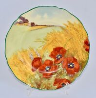 Vintage Royal Doulton POPPIES IN A CORNFIELD Entree/Salad Plate 23.8cm D5097