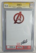 SS SIGNED By STAN LEE AVENGERS #1 CGC SS 9.8 NM BLANK Sketch VARIANT MOVIE
