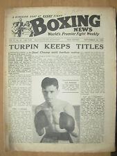 VINTAGE BOXING NEWS MAGAZINE SEPTEMBER 24th 1952 TURPIN KEEPS HIS TITLES
