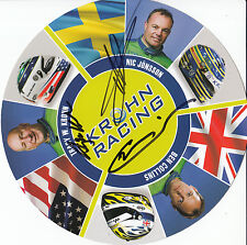 Krohn racing main signé MANS CARTE PROMO Collins, Jonsson, Krohn.