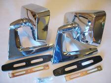 VINTAGE CHROME SQUARE MIRRORS CLASSIC MUSCLECAR RESTO HOTROD COMPLETE KIT