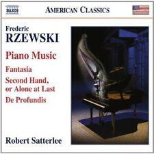 Piano Music: Fantasia / Second Hand Alone At Last - Rzewski / Sat (2014, CD NEU)