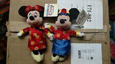 "Disney Set of Mickey and Minnie 8"" Plush ""Chinese New Year"""