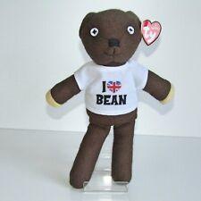 "Mr. Bean Teddy           TY Beanies  10"" Plush        I Love Bean Union Jack"