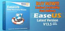 EaseUS DATA RECOVERY WIZARD v13.5 - Unlimited Devices - Lifetime License - NEW