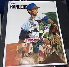 SCARCE 1972~BASEBALL PROMOTIONS/MLB~TEXAS RANGERS~23x29 INCH~POSTER PREMIUM RARE