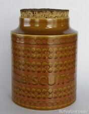HORNSEA ENGLAND JOHN CLAPPISON SAFFRON BISCUIT CANISTER 'A' ca1972 MINT COND