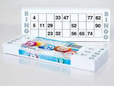 100 Bingokarten für Senioren System 15 aus 90 mit extragroßen Zahlen