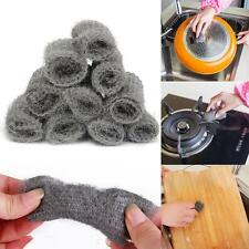 12PCS Steel Wool Pads Kitchen Wire Cleaning Ball Stainless Steel Pan Cleaner