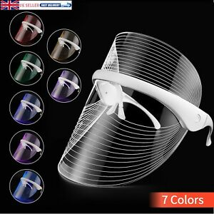 7 Colors LED Light Photon Therapy Face Mask Anti-aging Wrinkles Facial Mask UK