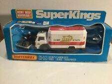 Vintage 1978 Matchbox Superkings K-19 Security Truck  In Its Original Box