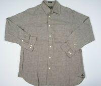 ORVIS Mens Linen Plaid L/S Button-Down Shirt SIZE LARGE