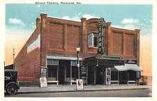 Rockland Maine Strand Theatre Exterior Street View Antique Postcard K24671