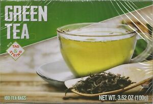 Green Tea  100 Tea Bags 3.52oz Sri Lanka 100 Tag & String Ceylon EXP 06/23