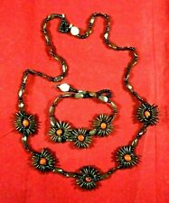 Peruvian jungle necklace and bracelet - natural seeds  - energetic
