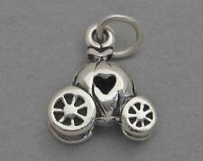 Small Sterling Silver 925 Charm Pendant 3D CINDERELLA PUMPKIN CARRIAGE 1952